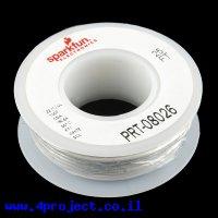 חוט קשיח חד גידי - AWG22 - לבן - 7.5 מטר
