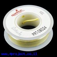 חוט קשיח חד גידי - AWG22 - צהוב - 7.5 מטר