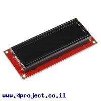 LCD טקסט 16x2, חום על שחור, 3.3V