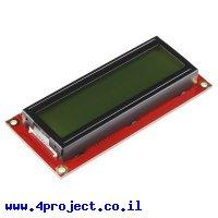 LCD טקסט 16x2, שחור על ירוק, 3.3V