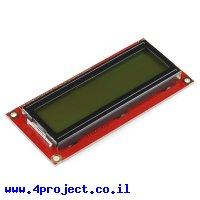 LCD טקסט 16x2, שחור על ירוק, 5V