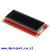LCD טקסט 16x2, לבן על שחור, 3.3V