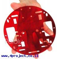 """פלטפורמה RRC01A בקוטר 127 מ""""מ - צבע אדום שקוף"""