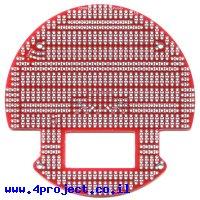 לוח הלחמה עם חיתוכים להרחבת פלטפורמה 3pi - צבע אדום