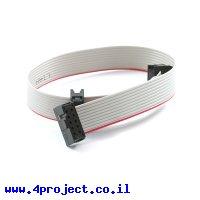 כבל שטוח לצורבי AVR - מתאם 5x2 ל-3x2