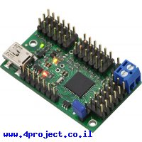 בקר מנוע סרוו 18 ערוצים מורכב - USB/TTL