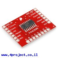שבב הזזה 8bit Serial In/Parallel Out 74HC595 על כרטיסון