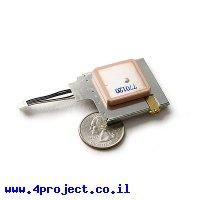 מודול GPS EM-408 SIRF3 20 channels עם אנטנה ומחבר MMCX