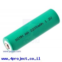 סוללה נטענת - NiMH AA 1.2V/2200mAh