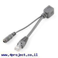 כבל Ethernet RJ45 למעבר מתח על הרשת - PoE פסיבי