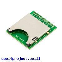 כרטיסון עם מחבר כרטיסי זכרון SD/MMC - גרסה קודמת 1