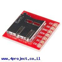 כרטיסון עם מחבר כרטיסי זכרון microSD של SparkFun