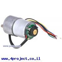מנוע 37Dx57L מהירות 100rpm @ 12V עם מקודד - גרסה קודמת