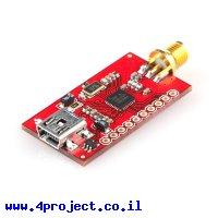 מודול תקשורת nRF24LU1+ - מחבר RP-SMA - חיבור USB
