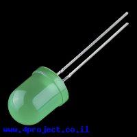 """לד 10 מ""""מ בסיסי - ירוק"""