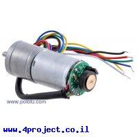 מנוע HP 25Dx48L מהירות 990rpm @ 6V עם מקודד
