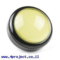 כפתור כיפה גדולה - צהוב