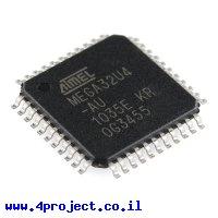 בקר AVR ATMega32U4 TQFP 16MHz 32KByte 12A/D USB