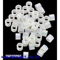 """ספייסר פלסטיק עגול 3.3/5 מ""""מ, אורך 4 מ""""מ - חבילה של 50"""