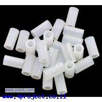"""ספייסר פלסטיק עגול 3.3/5 מ""""מ, אורך 10 מ""""מ - חבילה של 25"""