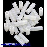 """ספייסר פלסטיק עגול 3.3/5 מ""""מ, אורך 15 מ""""מ - חבילה של 25"""