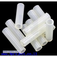 """ספייסר פלסטיק עגול 3.3/5 מ""""מ, אורך 20 מ""""מ - חבילה של 10"""