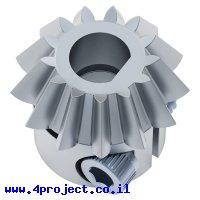"""גלגל שיניים 20P לציר 6.35 מ""""מ, 15 מעלות, פלדה - 13 שיניים"""