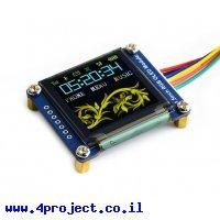 """מסך OLED RGB 1.5"""" 128x128, ממשק I2C/SPI"""