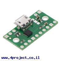 כרטיסון עם בורר מתח TPS2113A וחיבור USB MicroB