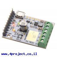 בקר מנוע צעד עם מגוון ממשקים Tic T834 - מורכב