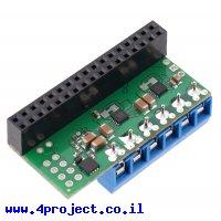 בקר מנוע DC ל-2 מנועים עד 1.7A - רכיב MAX14870 - צורת תוסף ל-Raspberry PI - מורכב