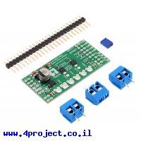 בקר מנוע DC ל-2 מנועים עד 1.7A - רכיב MAX14870 - צורת מגן Arduino
