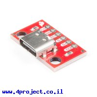 כרטיסון עם מחבר USB-C 2.0 נקבה - SparkFun