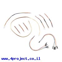 כבל לחיבור רכיבי Qwiic למטריצה - ערכה של 10 כבלים