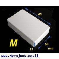 """קופסת פרוייקט מפלסטיק בינונית - 85x50x21 מ""""מ"""
