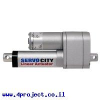 מנוע לינארי DC 12V, דגם HD , תנועה 50mm, 81kgf, 0.76cm/s - משוב