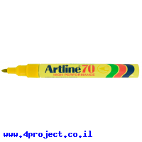 טוש לא מחיק 70 Artline (ארטליין) ראש עגול - צהוב