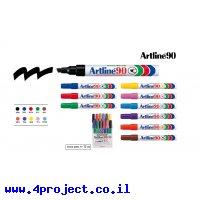 טוש לא מחיק 90 Artline (ארטליין) - ערכה של 12 יחידות בצבעים שונים