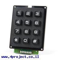 לוח מקשים - 12 כפתורים - חיבור Qwiic