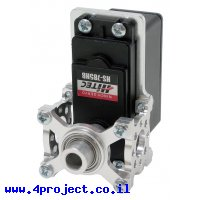 מחזיק מנוע ServoBlock™ למנועי סרוו בגודל 1/4 עם ציר C1-24T - ציר ישר