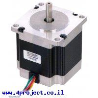 מנוע צעד 200 צעדים, NEMA 23, 3.6V/2A