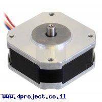 מנוע צעד שטוח, 200 צעדים, NEMA 17, 5.4V/1A