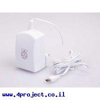 ספק כח ל-RPI3 מקורי - 5.1V/2.5A - חיבור USB-microB