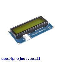 LCD טקסט 16x2, שחור על צהוב - חיבור Grove