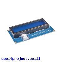 LCD טקסט 16x2, לבן על כחול - חיבור Grove