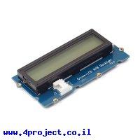 LCD טקסט 16x2, שחור על RGB - חיבור Grove