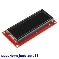 LCD טקסט 16x2, חום על שחור, 3.3V, ממשק טורי