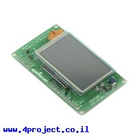 LCD גרפי CFAX, 128x64, תאורת רקע EL, מסך מגע
