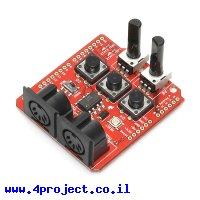 מגן Arduino MIDI - גרסה קודמת