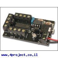 כרטיס פיתוח PICAXE 8 Pin עם דוחף מנוע
